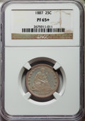 Proof Seated Quarters, 1887 25C PR65+ NGC....