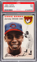 Baseball Cards:Singles (1950-1959), 1954 Topps Ernie Banks #94 PSA NM 7....