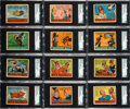 "Non-Sport Cards:Sets, 1936 R28 Anonymous ""Cartoon Adventures"" PSA-Graded Near Set(37/48). ..."