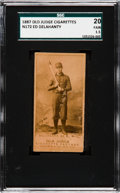 Baseball Cards:Singles (Pre-1930), 1887 N172 Old Judge Ed Delahanty (#123-1) SGC 20 Fair 1.5....