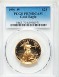 Modern Bullion Coins: , 1994-W $25 Half-Ounce Gold Eagle PR70 Deep Cameo PCGS. PCGS Population: (249). NGC Census: (676). ...