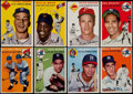 Baseball Cards:Lots, 1954 Topps Baseball Collection (186)....