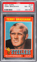 Football Cards:Singles (1970-Now), 1971 Topps Terry Bradshaw #156 PSA NM-MT+ 8.5....