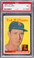 Baseball Cards:Singles (1950-1959), 1958 Topps Ted Williams #1 PSA NM+ 7.5....