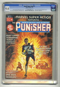 Marvel Super Action (Magazine) #1 The Punisher (Marvel, 1976) CGC NM 9.4 Off-white to white pages. Origin and second app...