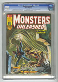 Bronze Age (1970-1979):Horror, Monsters Unleashed #11 (Marvel, 1975) CGC NM/MT 9.8 Off-white towhite pages. Doug Moench story. Frank Brunner cover with Bi...