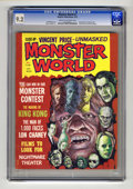 Bronze Age (1970-1979):Horror, Monster World #2 (Warren, 1975) CGC NM- 9.2 Cream to off-whitepages. King Kong, Lon Chaney, and Vincent Price articles and ...
