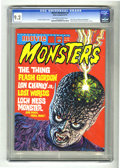 Magazines:Miscellaneous, Movie Monsters #4 (Atlas-Seaboard, 1975) CGC NM- 9.2 Off-white towhite pages. Not listed in Overstreet. CGC census 3/05: 1 ...