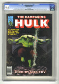 Magazines:Superhero, The Rampaging Hulk #4 (Marvel, 1977) CGC NM 9.4 White pages. ...