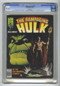 Magazines:Superhero, The Rampaging Hulk #5 (Marvel, 1977) CGC NM 9.4 Off-white pages.Hulk vs. the Sub-Mariner. Jim Starlin cover. Keith Pollard,...