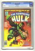 Magazines:Superhero, The Rampaging Hulk #8 (Marvel, 1978) CGC NM+ 9.6 Off-white pages....