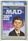 "Magazines:Mad, Mad #300 (EC, 1991) CGC NM+ 9.6 white pages. ""Casablanca"", ""Wizardof Oz"", ""Dick Tracy"", and ""Gone With the Wind"" parodies. ..."