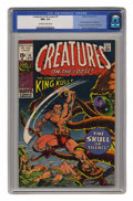Bronze Age (1970-1979):Horror, Creatures on the Loose #10 (Marvel, 1971) CGC NM+ 9.6 Off-white towhite pages....