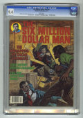 Magazines:Superhero, Six Million Dollar Man #6 (Charlton, 1977) CGC NM 9.4 White pages.Lee Majors photos. Earl Norem cover art. Jack Sparling in...