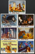 "Movie Posters:Animated, Lady and the Tramp (Buena Vista, R-1971). Title Lobby Card (11"" X14"") and Lobby Cards (6) (11"" X 14""). Animated Musical Rom...(Total: 7 Items)"
