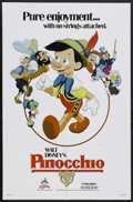 "Movie Posters:Animated, Pinocchio (Buena Vista, R-1984). One Sheet (27"" X 41""). Animated. Starring the voices of Dick Jones and Cliff Edwards. Direc..."
