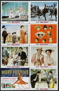 """Movie Posters:Fantasy, Mary Poppins (Buena Vista, R-1970s). Title Lobby Card (11"""" X 14"""") and Lobby Cards (7) (11"""" X 14""""). Musical Comedy. Starring ... (Total: 8 Items)"""