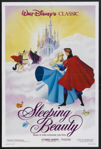 """Sleeping Beauty (Buena Vista, R-1986). One Sheet (27"""" X 41""""). Animated Fantasy. Starring the voices of Mary Co..."""