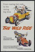 "Movie Posters:Crime, The Wild Ride (Warner Brothers, 1960). One Sheet (27"" X 41"").Crime. Starring Jack Nicholson, Georgianna Carter, Robert Bean..."