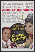 """Movie Posters:Romance, Roman Holiday (Paramount, R-1962). One Sheet (27"""" X 41""""). Romantic Comedy. Audrey Hepburn became an Oscar-winning star with ..."""