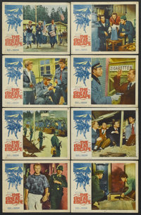 "The Great Escape (United Artists, 1963). Lobby Card Set of 8 (11"" X 14""). War Adventure. Starring Steve McQuee..."