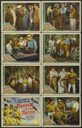 """Movie Posters:Adventure, Danger in the Pacific (Universal, 1942). Lobby Card Set of 8 (11"""" X14""""). Adventure. Starring Leo Carrillo, Andy Devine, Don... (Total:8 Items)"""