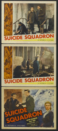 "Movie Posters:War, Suicide Squadron (Republic, 1941). Title Lobby Card (11"" X 14"") andLobby Cards (2) (11"" X 14""). War. Starring Anton Walbroo... (Total:3 Items)"