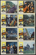 "Movie Posters:Adventure, The Dark Avenger (20th Century Fox, 1955). Lobby Card Set of 8 (11""X 14""). Adventure. Starring Errol Flynn, Joanne Dru, Pet... (Total:8 Items)"