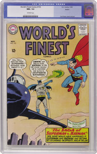 World's Finest Comics #153 Boston pedigree (DC, 1965) CGC NM+ 9.6 Off-white pages. Curt Swan provided the cover and inte...