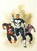 Original Comic Art:Covers, Joe Jusko - The Punisher: No Escape Cover Original Art (Marvel,1990). ...