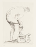 Prints & Multiples, Henry Spencer Moore (1898-1986). Woman Putting on Stocking I, 1979. Etching. 11-3/8 x 9 inches (28.9 x 22.9 cm) (sight)...
