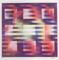 Prints:Contemporary, Yaacov Agam (b. 1928). Untitled - Nine Squares, circa 1980.Agamograph in colors. 12 x 12-1/4 inches (30.5 x 31.1 cm) (i...