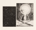 Prints & Multiples, Vija Celmins (b. 1939). Concentric Bearings A, 1984. Aquatint, photo-etching, and drypoint. 9-3/8 x 11-3/8 inches (23.8 ...