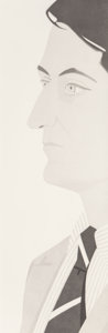 Prints:Contemporary, Alex Katz (b. 1927). John Ashbery, 1986. Aquatint. 49-1/2 x16 inches (125.7 x 40.6 cm) (image). Ed. 12/25. Signed and n...