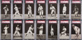 Baseball Cards:Sets, 1907 PC765-1 Dietsche Post Cards Detroit Tigers Near Set (14/16)....