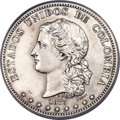 Colombia, Colombia: Republic silvered-bronze Specimen Essai Obverse & Reverse Uniface Trial Peso Pair 1873 SP62 PCGS,... (Total: 2 coins)
