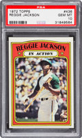 Baseball Cards:Singles (1970-Now), 1972 Topps Reggie Jackson In Action #436 PSA Gem Mint 10....