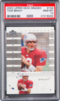 Football Cards:Singles (1970-Now), 2000 Upper Deck Graded Tom Brady (#'d #'d 124/1325) #104 PSA Gem MT10. ...