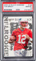 Football Cards:Singles (1970-Now), 2000 Upper Deck Black Diamond Tom Brady #126 PSA Gem MT 10. ...