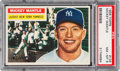 Baseball Cards:Singles (1950-1959), 1956 Topps Mickey Mantle (Gray Back) #135 PSA NM-MT 8....