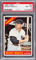 Baseball Cards:Singles (1960-1969), 1966 Topps Mickey Mantle #50 PSA NM-MT 8....