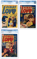 Golden Age (1938-1955):Romance, First Love Illustrated #2, 11, and 17 File Copies Group (Harvey,1949-52) CGC VF+ 8.5 Light tan to off-white pages.... (Total: 3Comic Books)