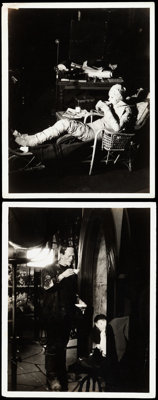 "The Bride of Frankenstein (Universal, 1935). Behind-the-Scenes Photos (2) (8"" X 10""). ... (Total: 2 Items)"