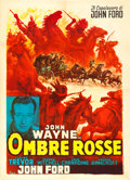 "Movie Posters:Western, Stagecoach (Columbus, R-1960). Italian 2 - Fogli (39.5"" X 55"")Anselmo Ballester Artwork.. ..."
