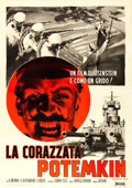 "Movie Posters:Foreign, Battleship Potemkin (Cinetalia, R-1960). Italian 4 - Fogli (55"" X77.5"") Averardo Ciriello Artwork.. ..."