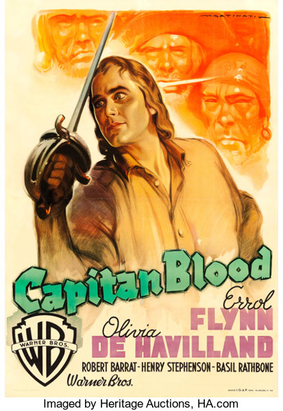 Captain Blood Warner Brothers R 1948 Italian 2 Fogli 38