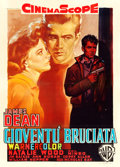 "Movie Posters:Drama, Rebel without a Cause (Warner Brothers, 1956). Italian 2 - Fogli(39.5"" X 55"") Luigi Martinati Artwork.. ..."
