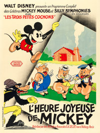 "The Three Little Pigs (United Artists, 1933). French Grande (48.75"" X 63"")"