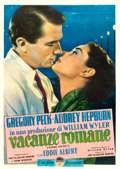 "Movie Posters:Romance, Roman Holiday (Paramount, 1953). Italian 2 - Fogli (39.5"" X 55"")....."