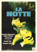 "Movie Posters:Foreign, La Notte (Dino de Laurentiis, 1961). Italian 2 - Fogli (39"" X 55"")Giuliano Nistri Artwork.. ..."
